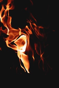macro photography of flame