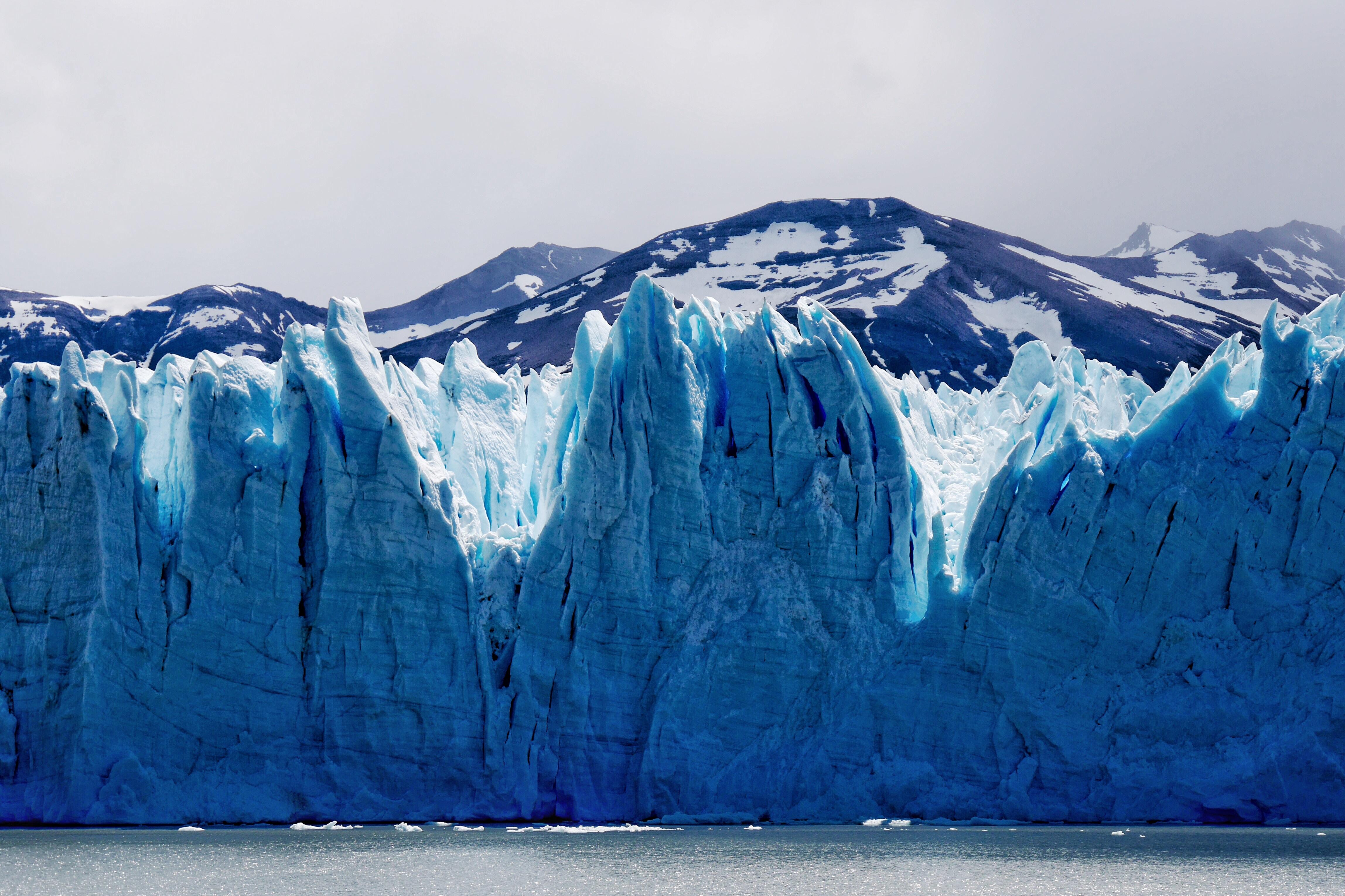 landscape photo of glacier