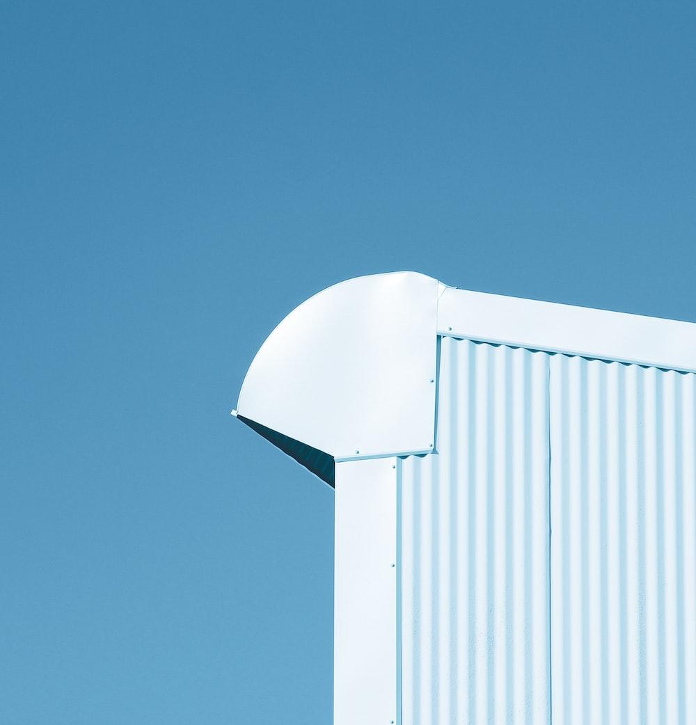 white corrugated sheet ceiling