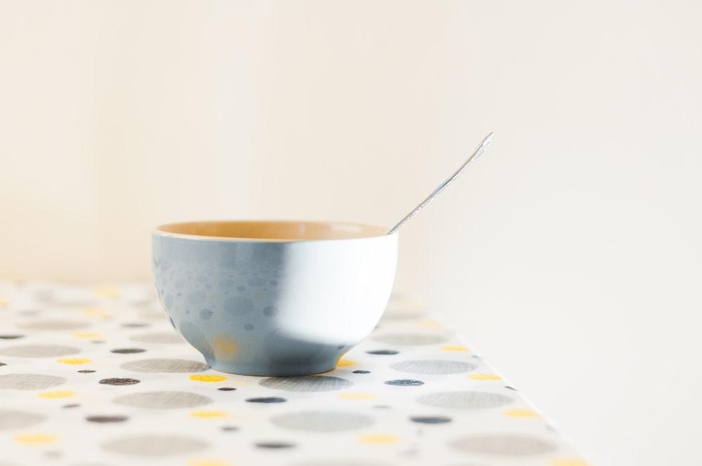 white ceramic bowl on table
