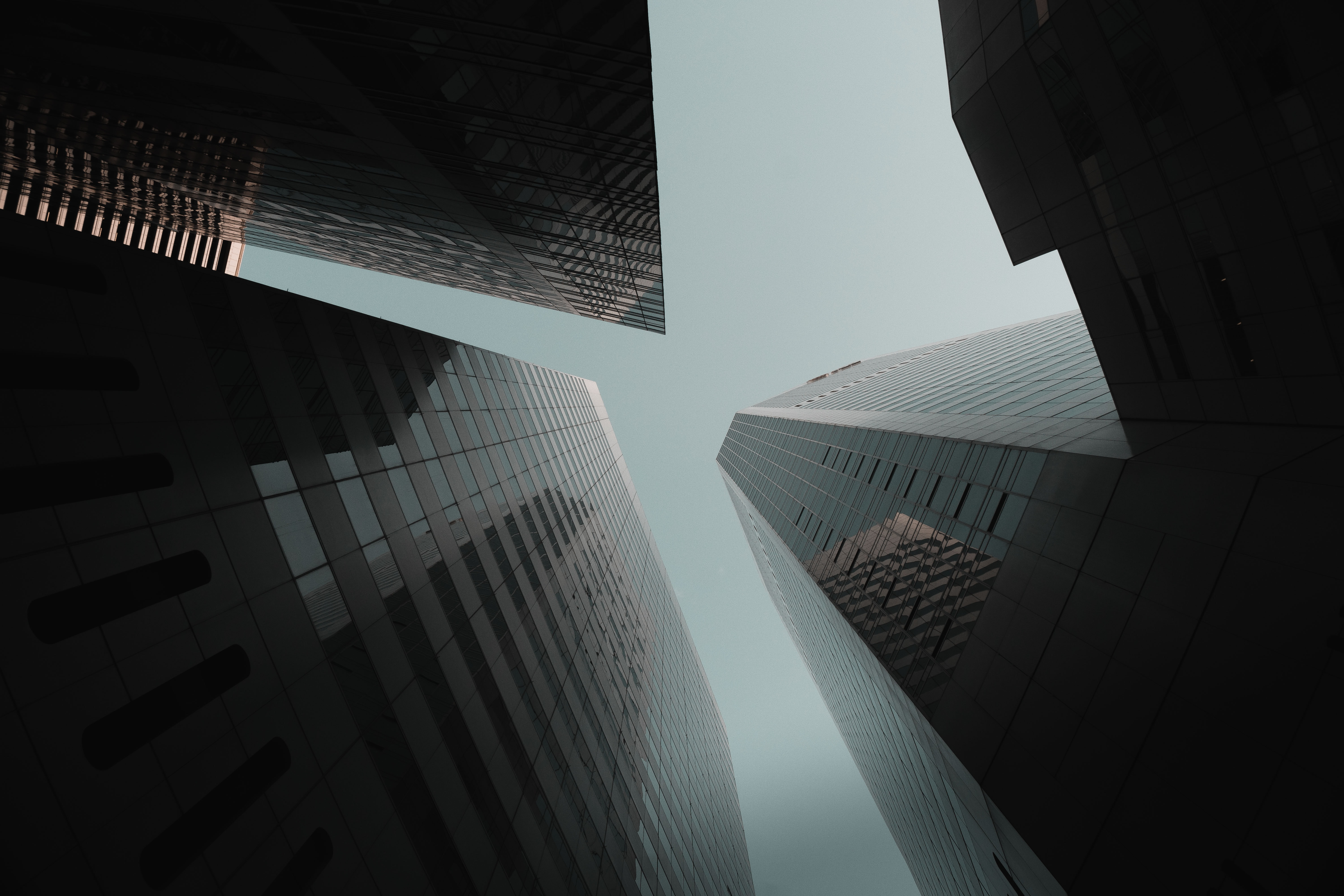 low angle photography of buildings at daytime