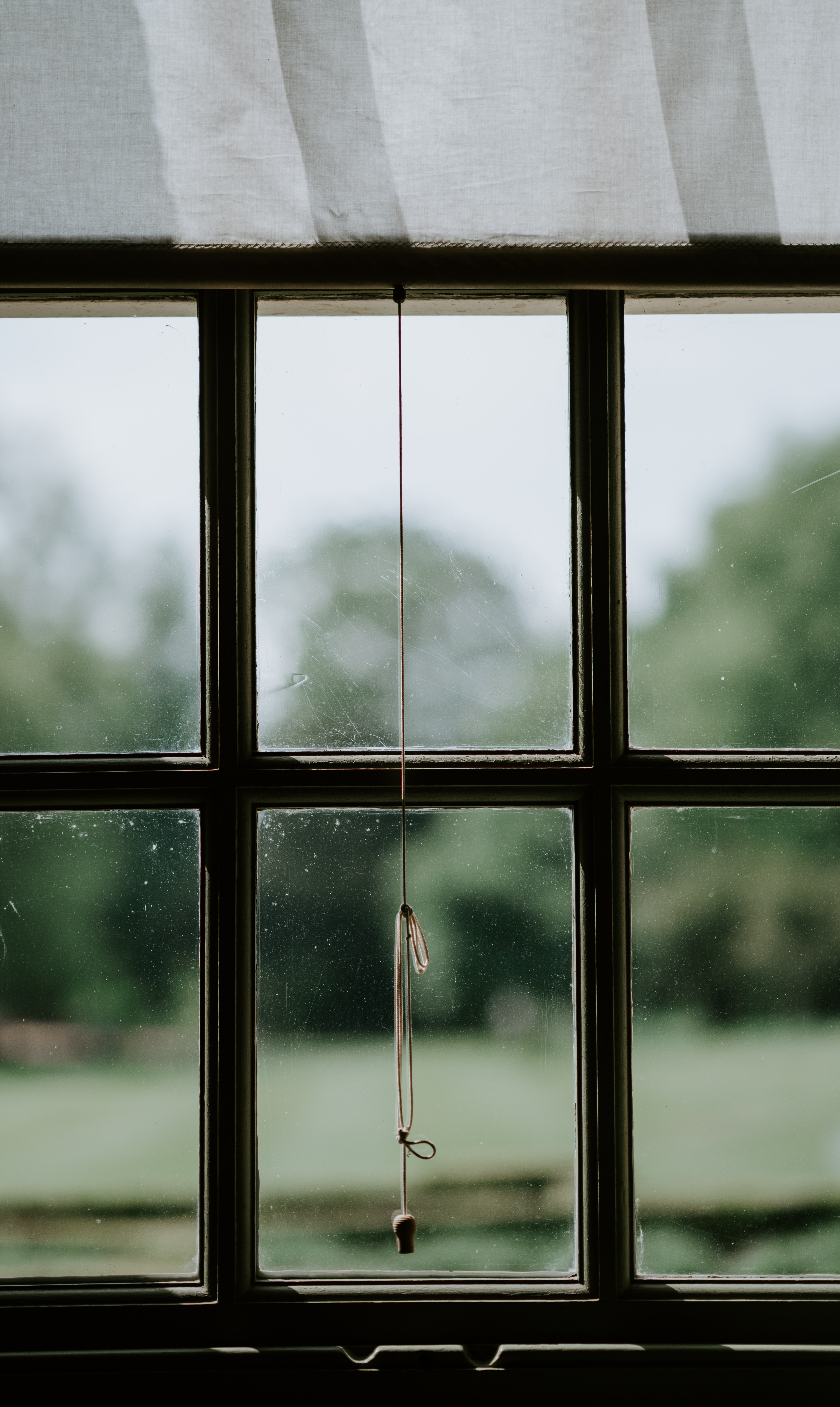 selective focus photo of closed black wood-framed glass window