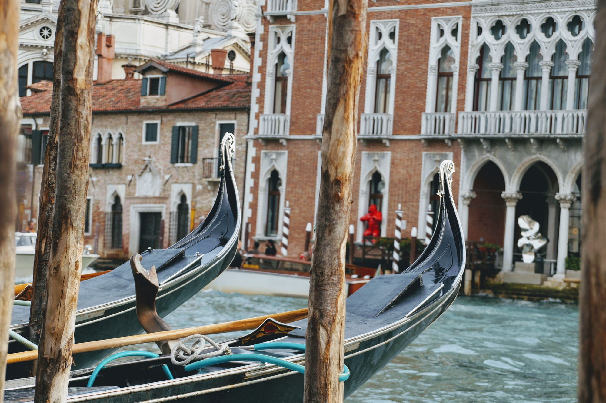 Gondolas in Venice Italy home exchange