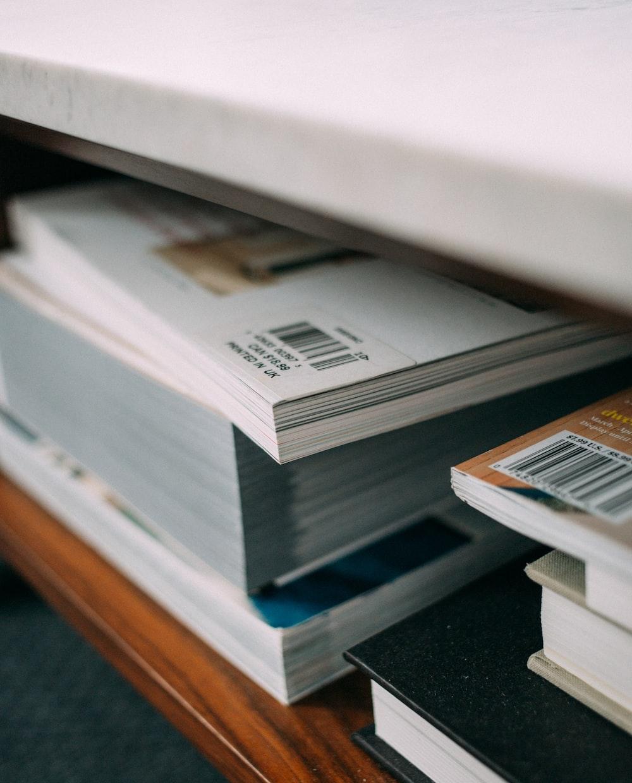 assorted books in the rakc