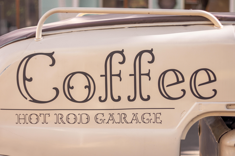 Coffee hot rod garage car