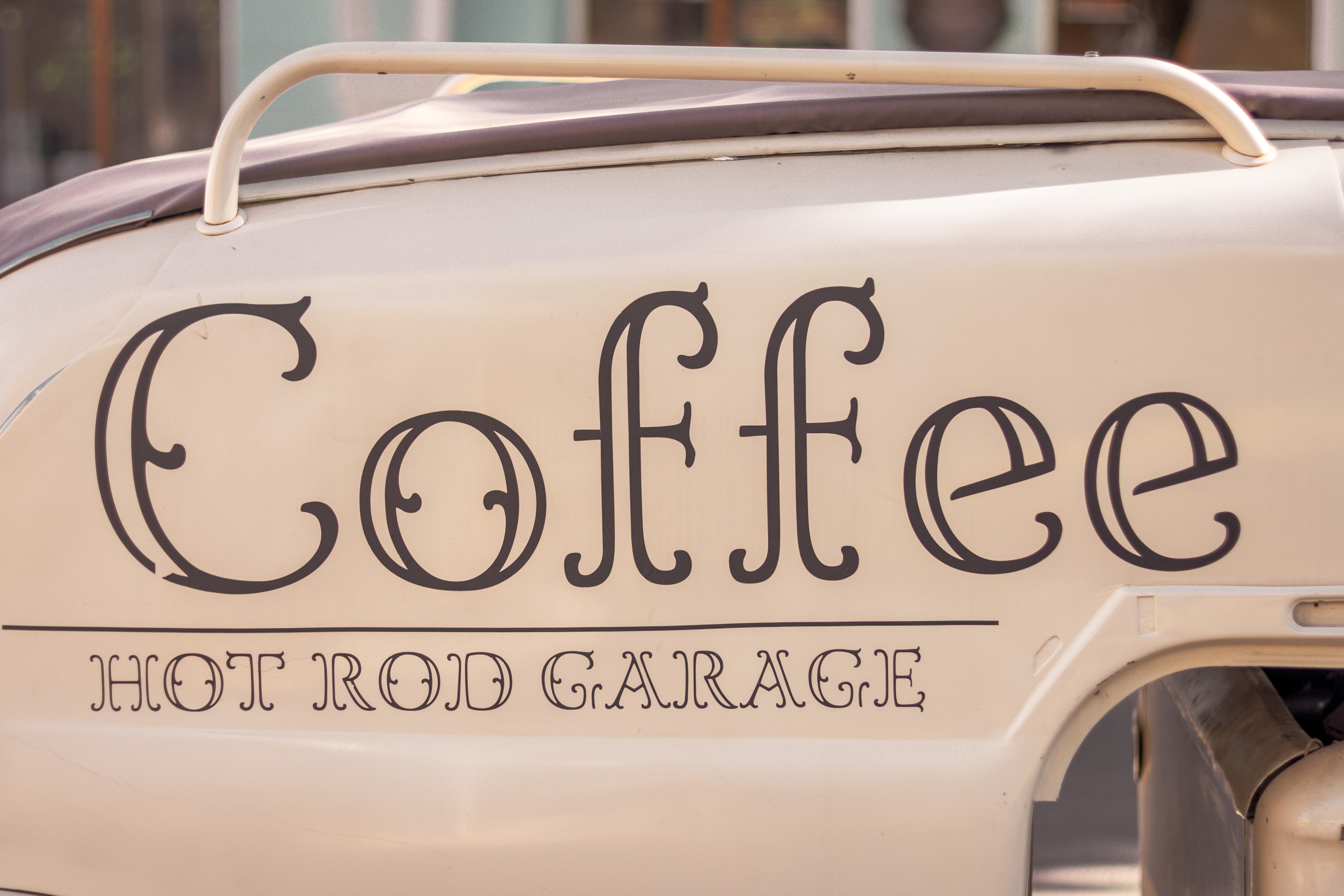 Coffee hot rod garage car