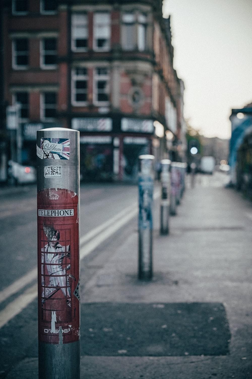 selective focus photography of parking bar