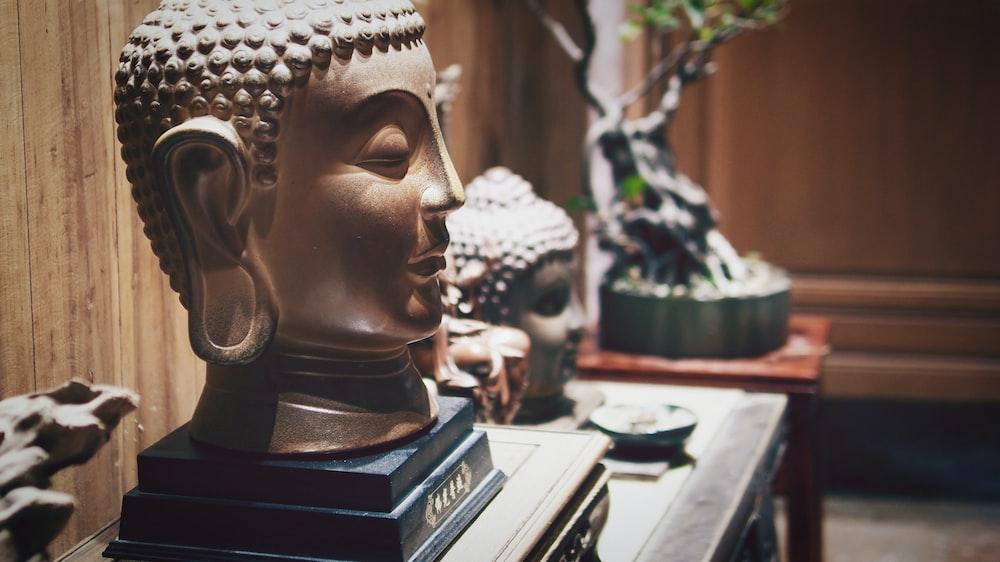 Gautama Buddha Head Decor On Table