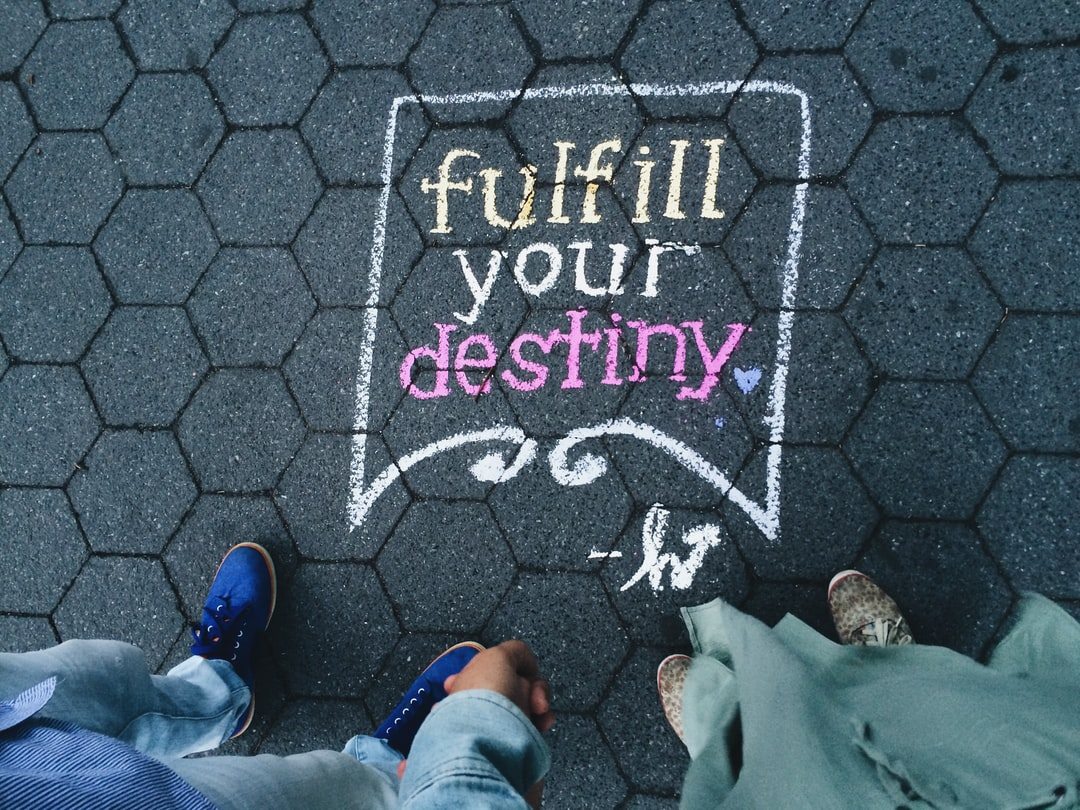 Whilst walking around Central Park, we stumbled upon this little lettering that says, 'Fulfill your destiny.' It was one of the best days.