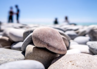 close-up photography of pile of stones