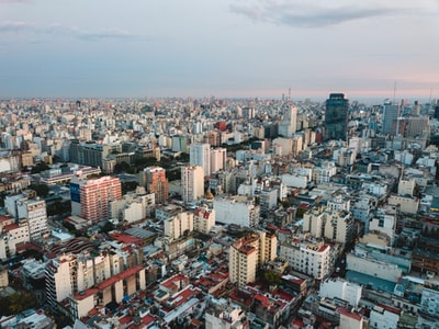 aerial view of city under cloudy sky during daytime argentina zoom background
