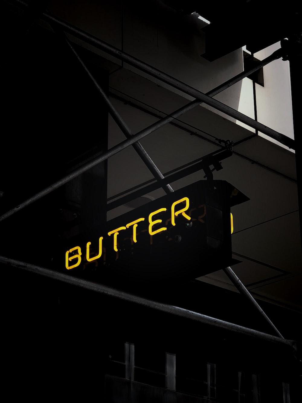 butter neon light signage
