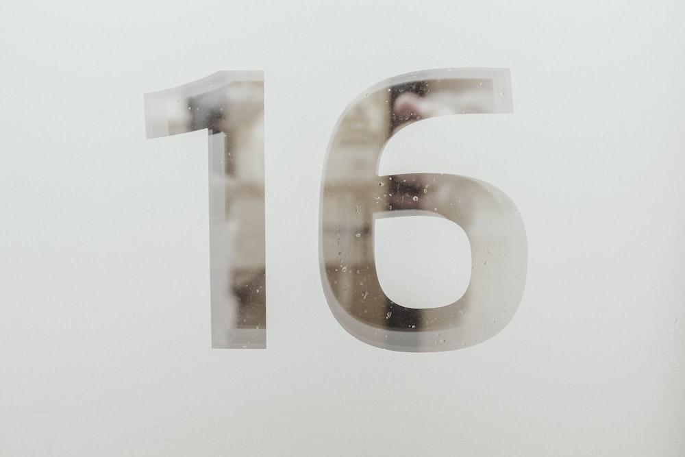 number 16 artwork