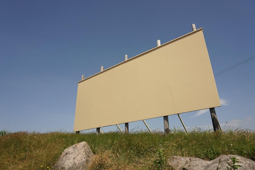 rectangular beige board