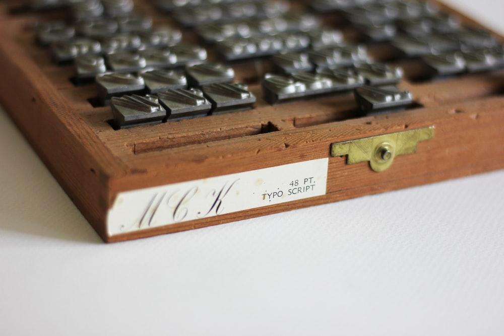brown organizer on white surface