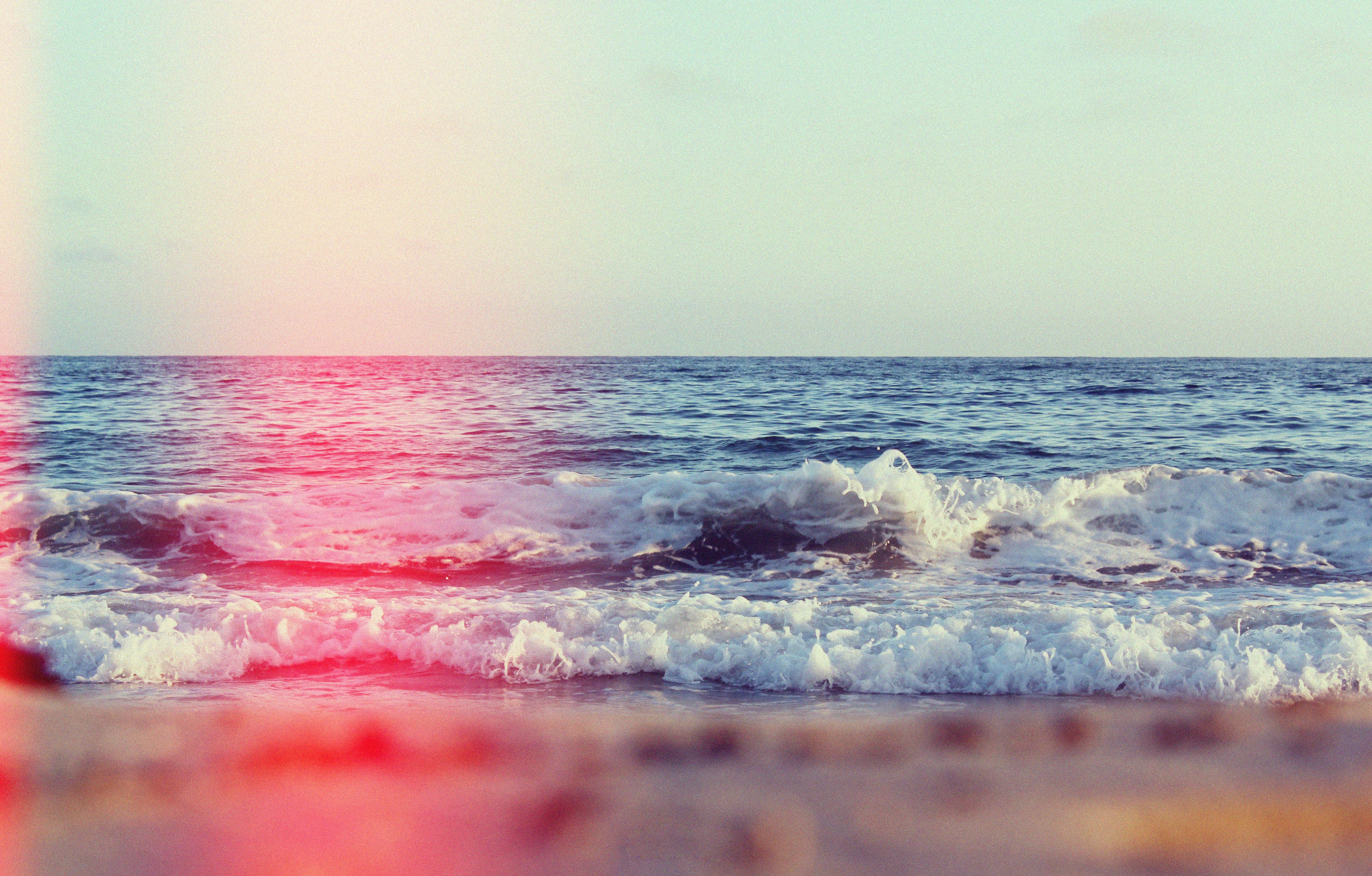 sea waves on seashore