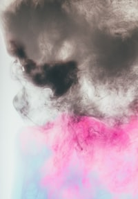 black, pink, and blue abstract painting