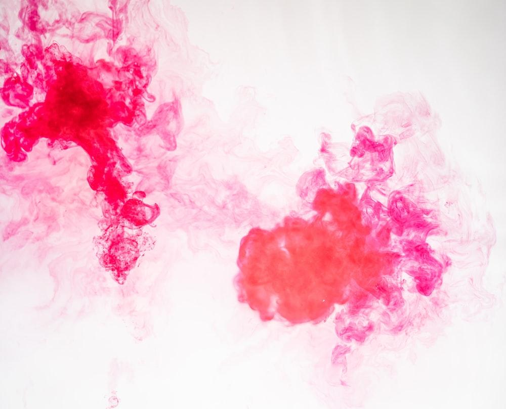 pink and orange liquid artwork