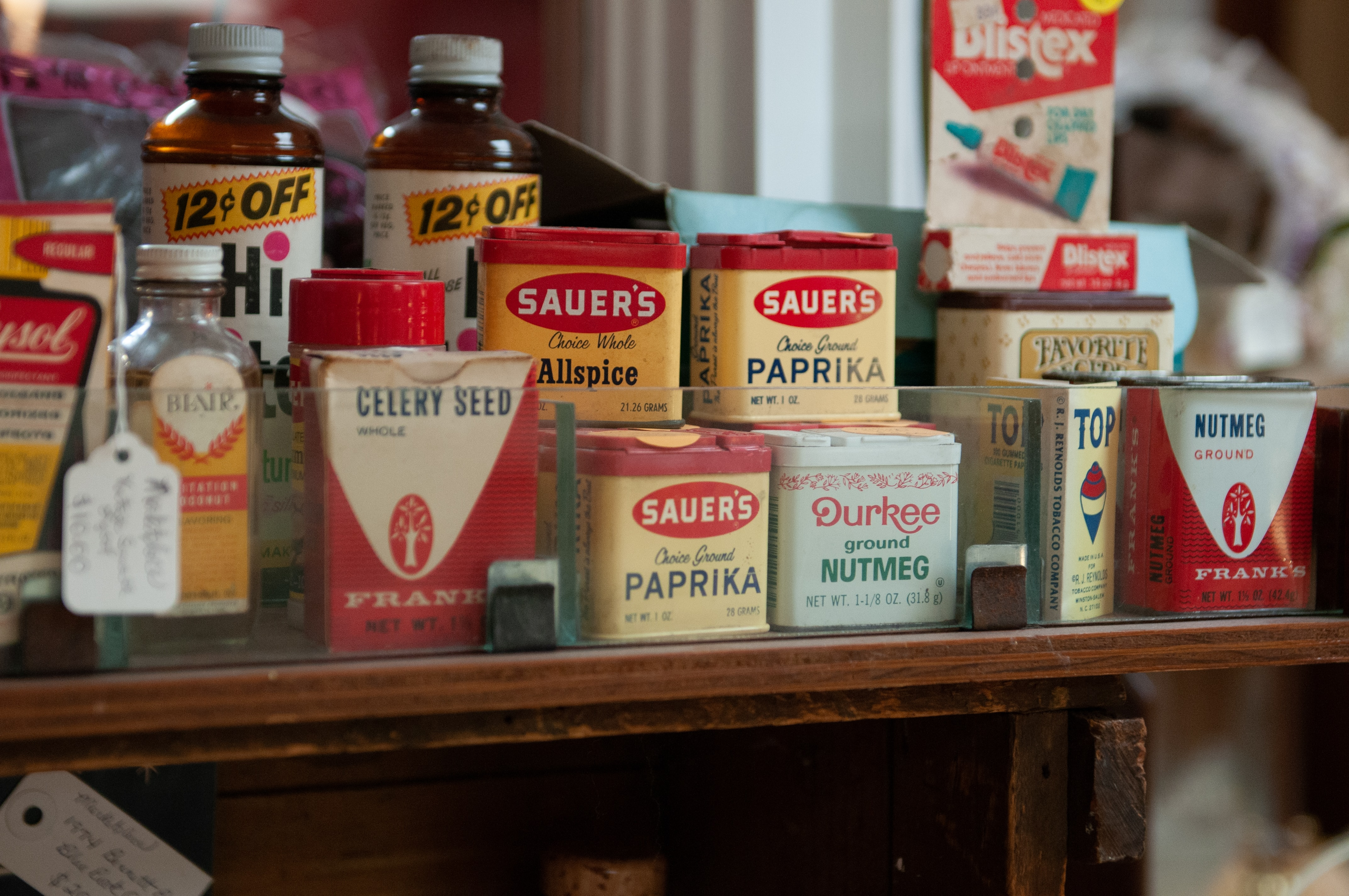 Sauer's products on table