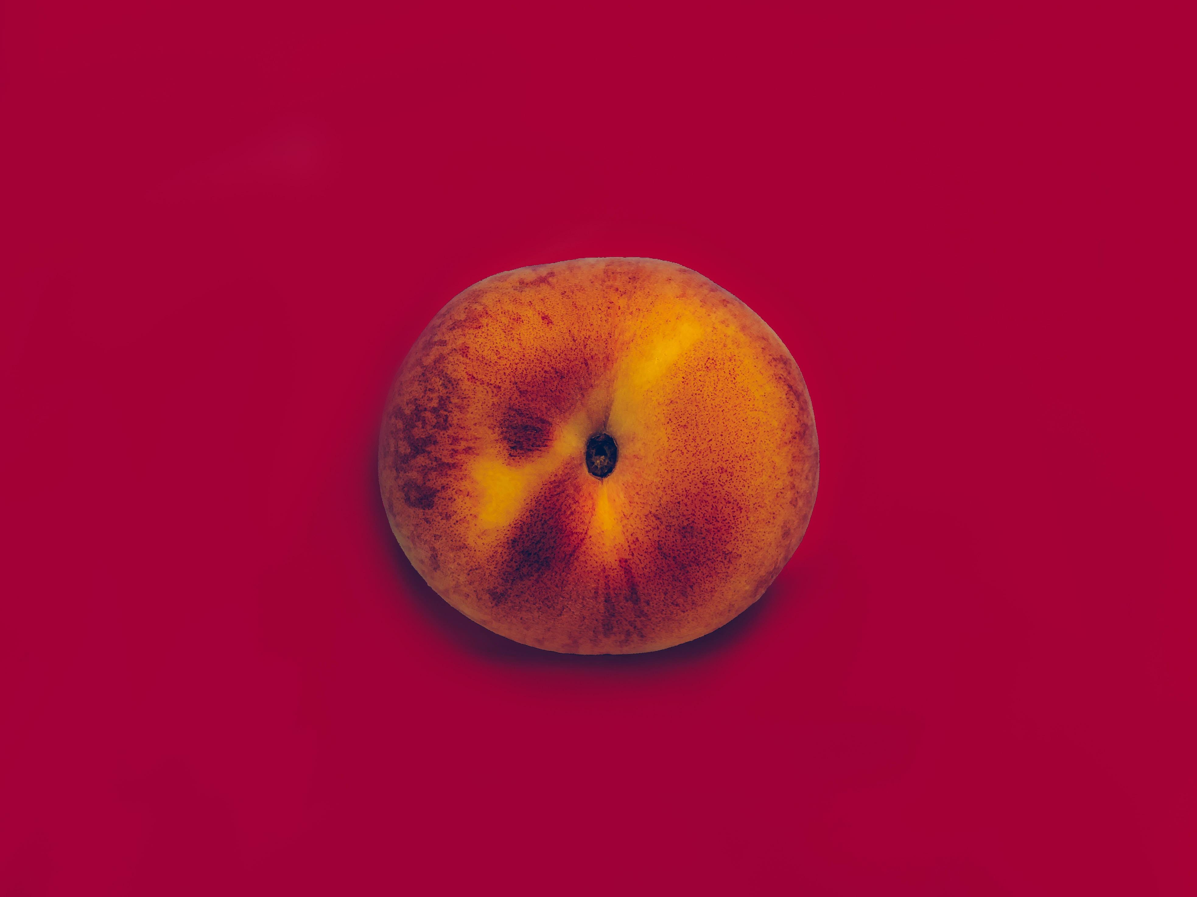 round apple fruit candle