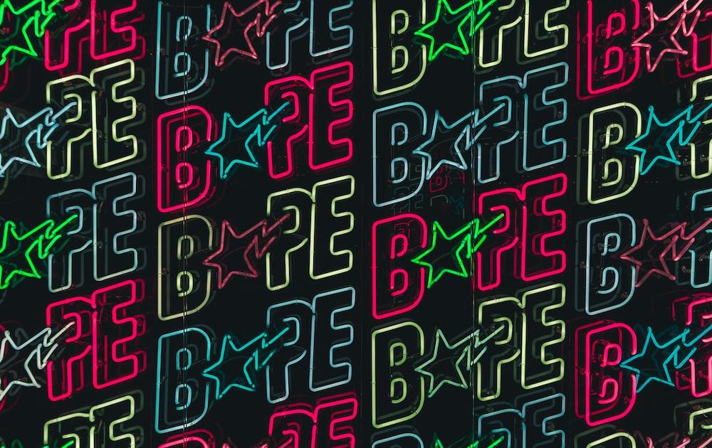 Bape neon logo wallpaper