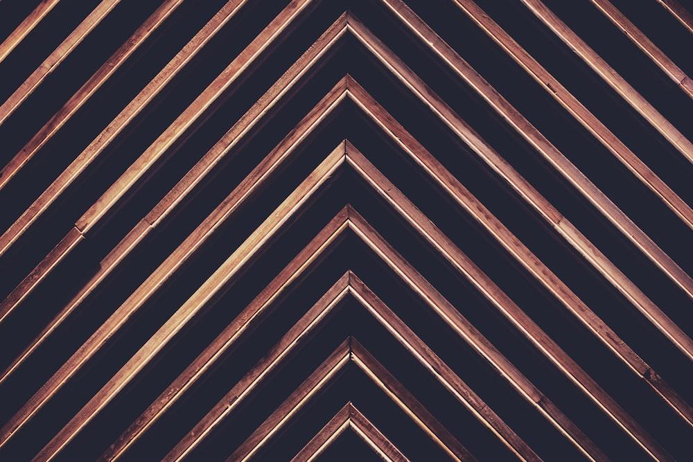 triangular black and brown graphic art