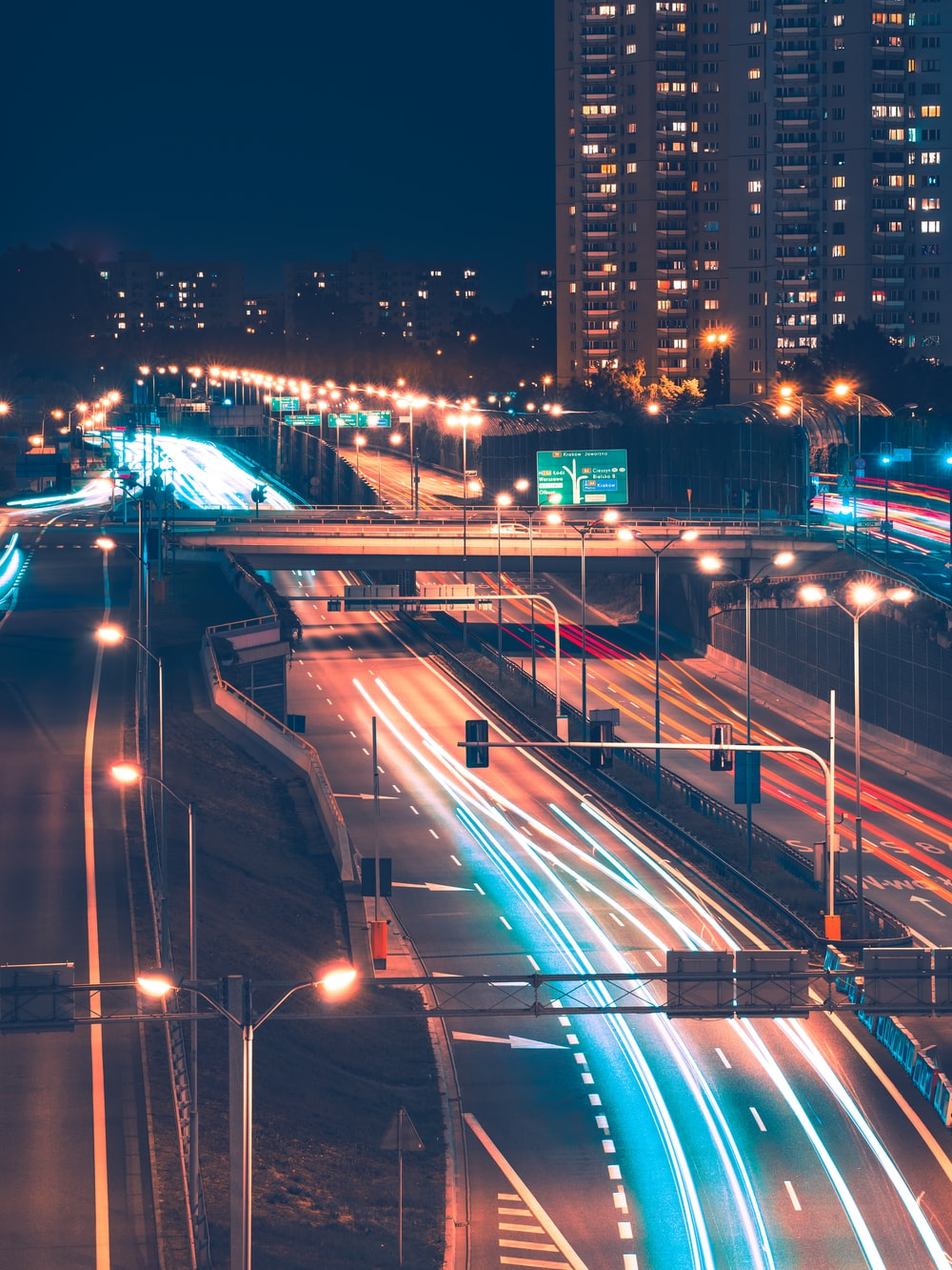 time lapse photography of highway