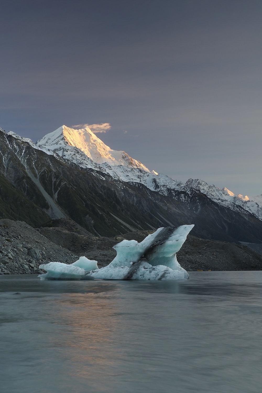 ice berg near shore