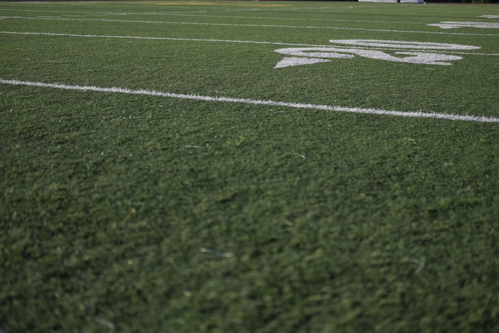 green and white football field