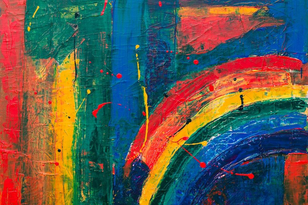 multicolored graffiti painting