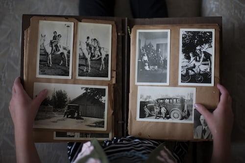 Family heritage photo album