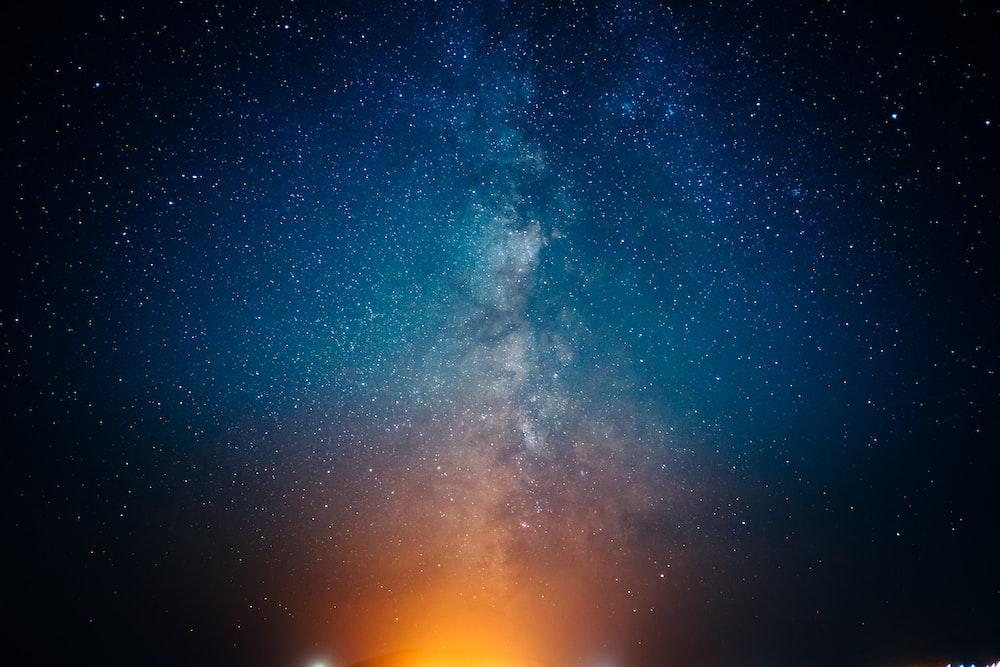 black and blue nebula