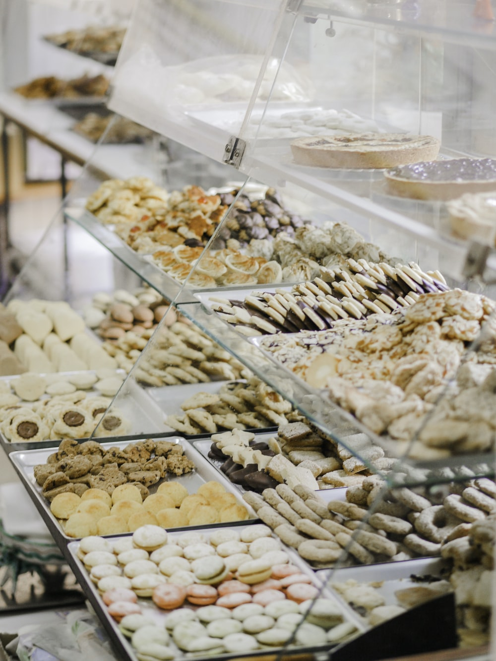 baked pastry lot in serve-over counter