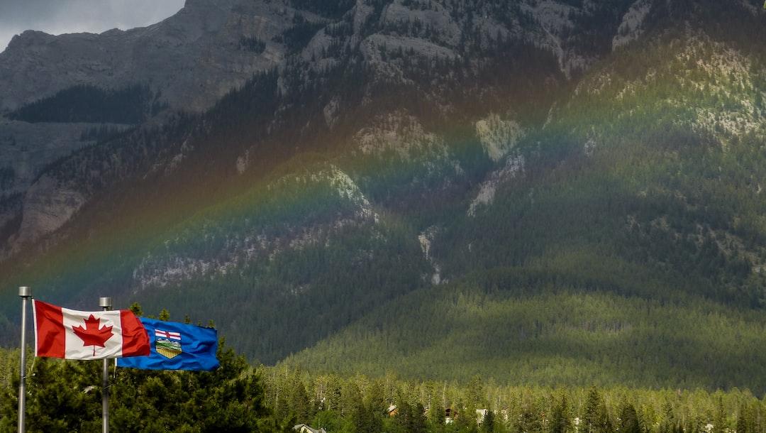 Rainbow after a quick spring rainstorm