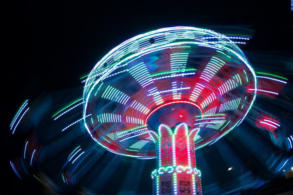 lighted ride-on carousel