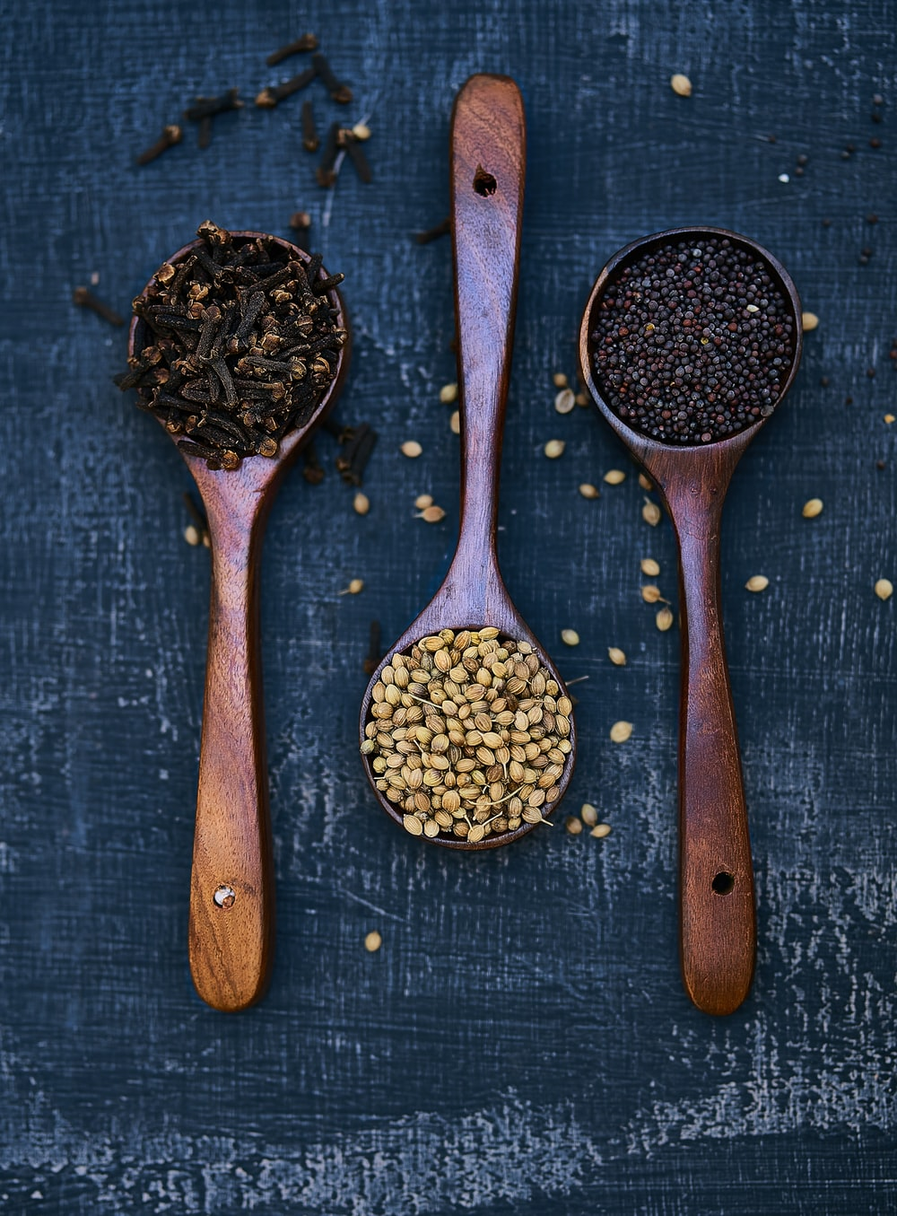 three spoons of spices
