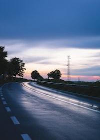 road under golden hour