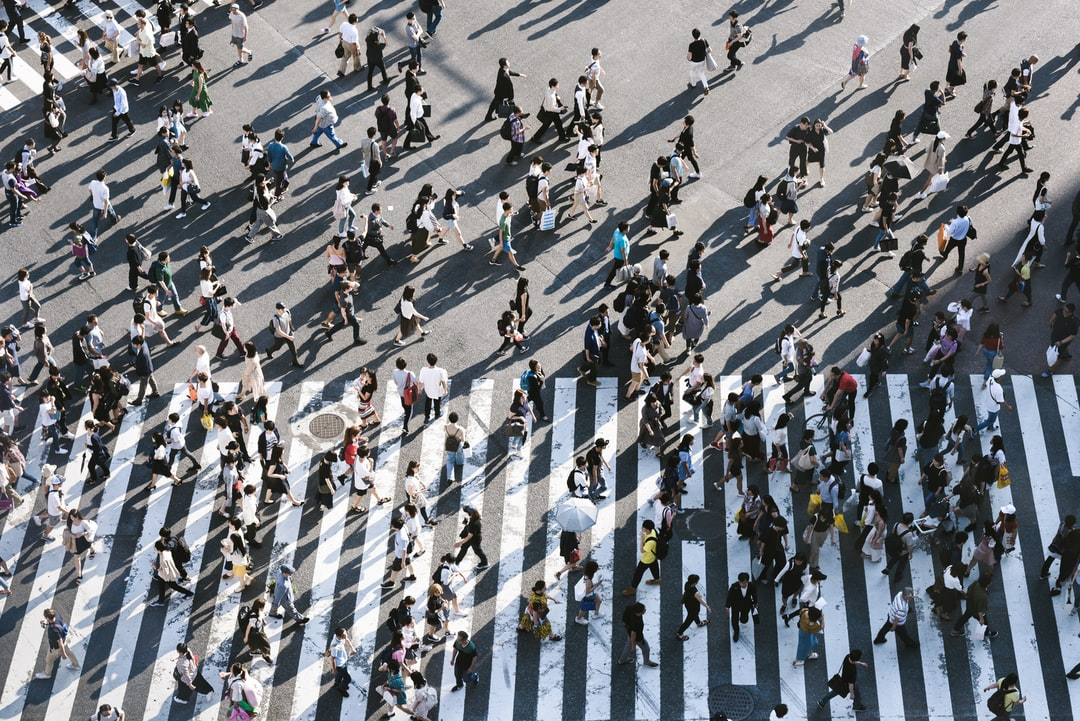 aerial view of <b>people</b> walking on raod photo – Free Image on ...
