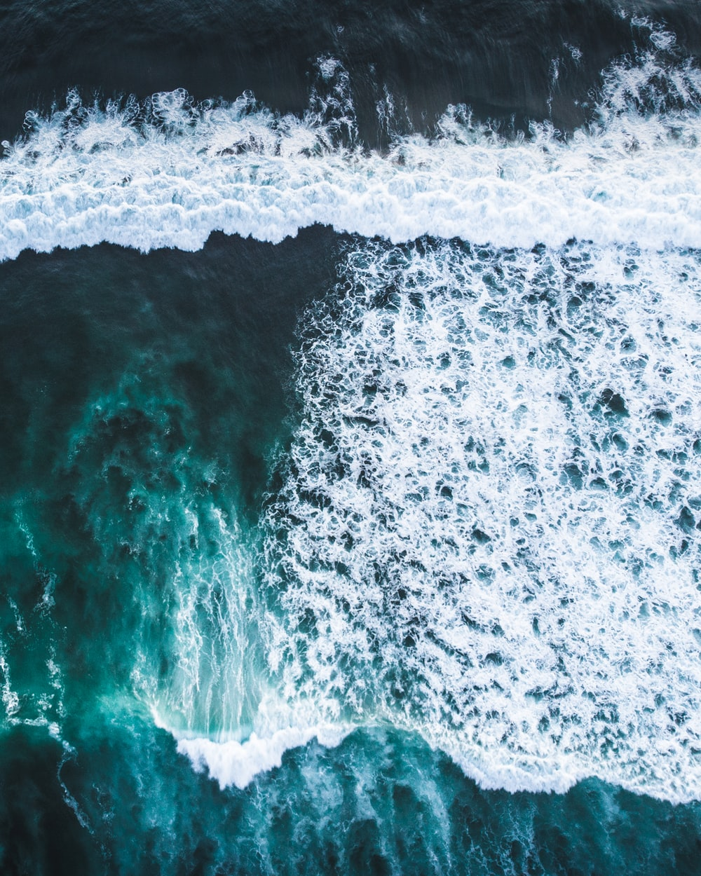 aerial view photo of sea waves