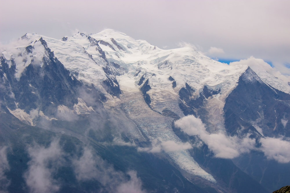 photograph of mountain alps