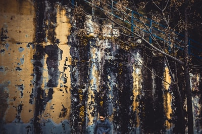 black and brown abstract painting