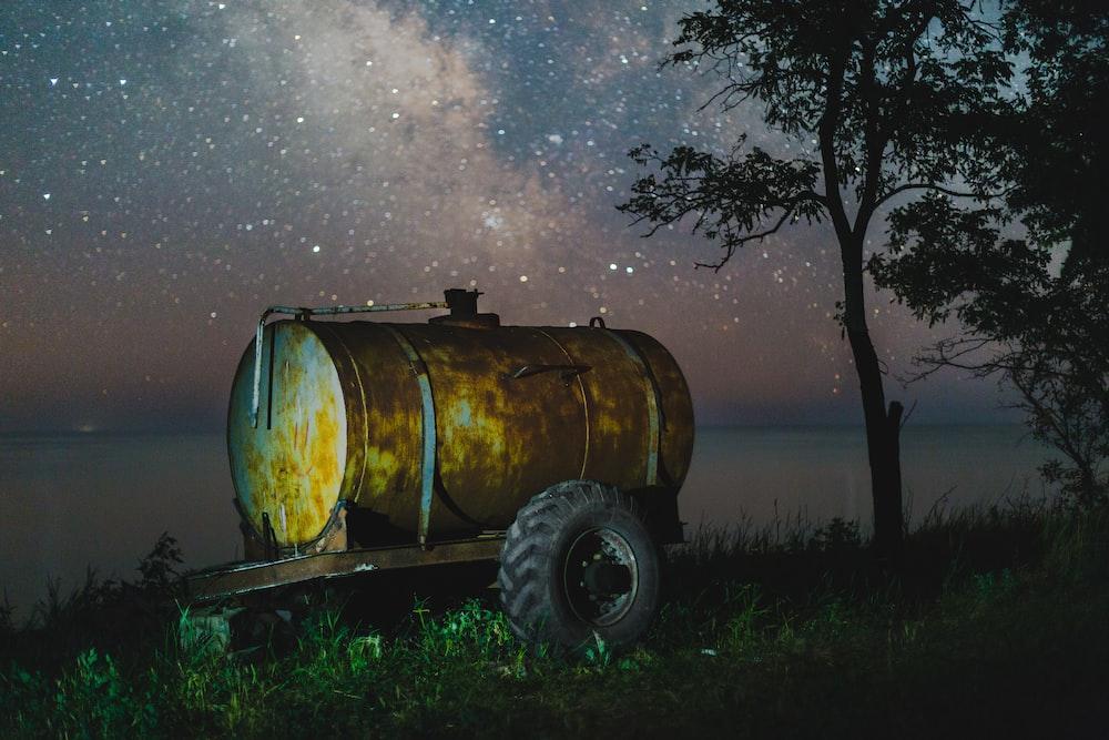 landscape photo of offset smoker on trailer