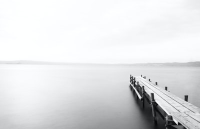 wooden dock at the lake