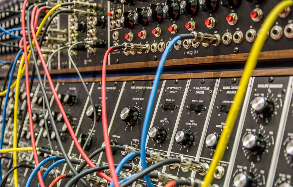 several wires in audio mixers