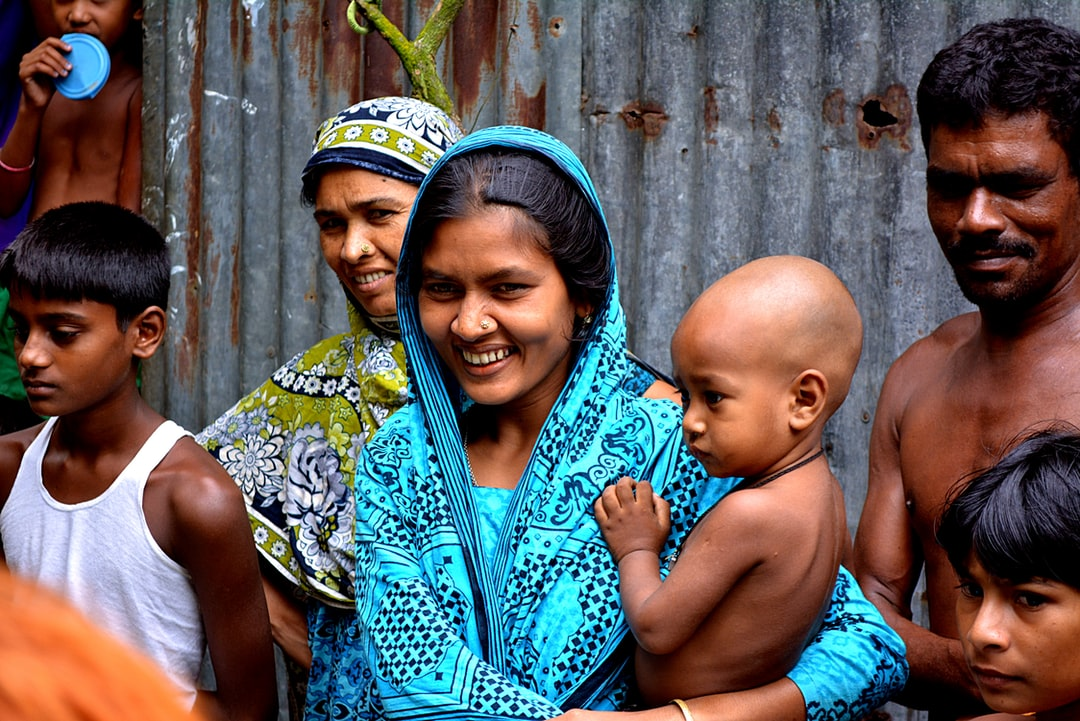 Welcomed  by a local family in a village of Bangladesh.