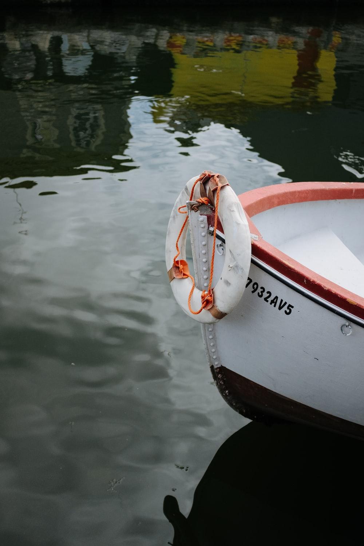 white buoy on boat