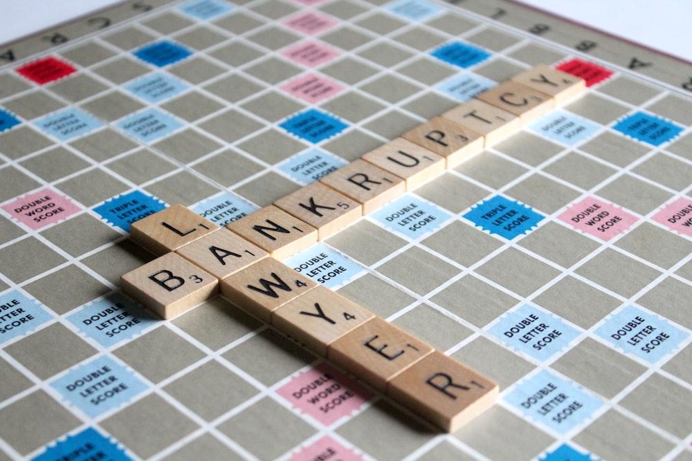 bankruptcy letter scrabble