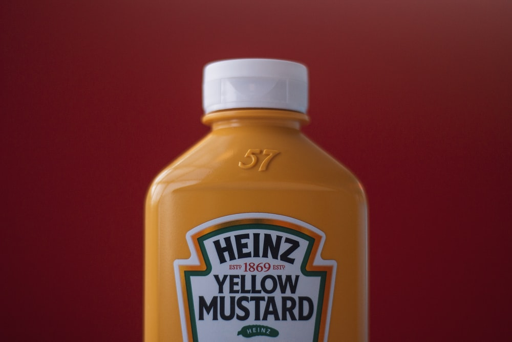 Heinz yellow mustard bottle