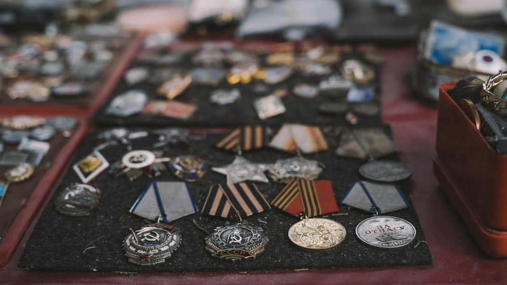 depth of field photo of medal collection