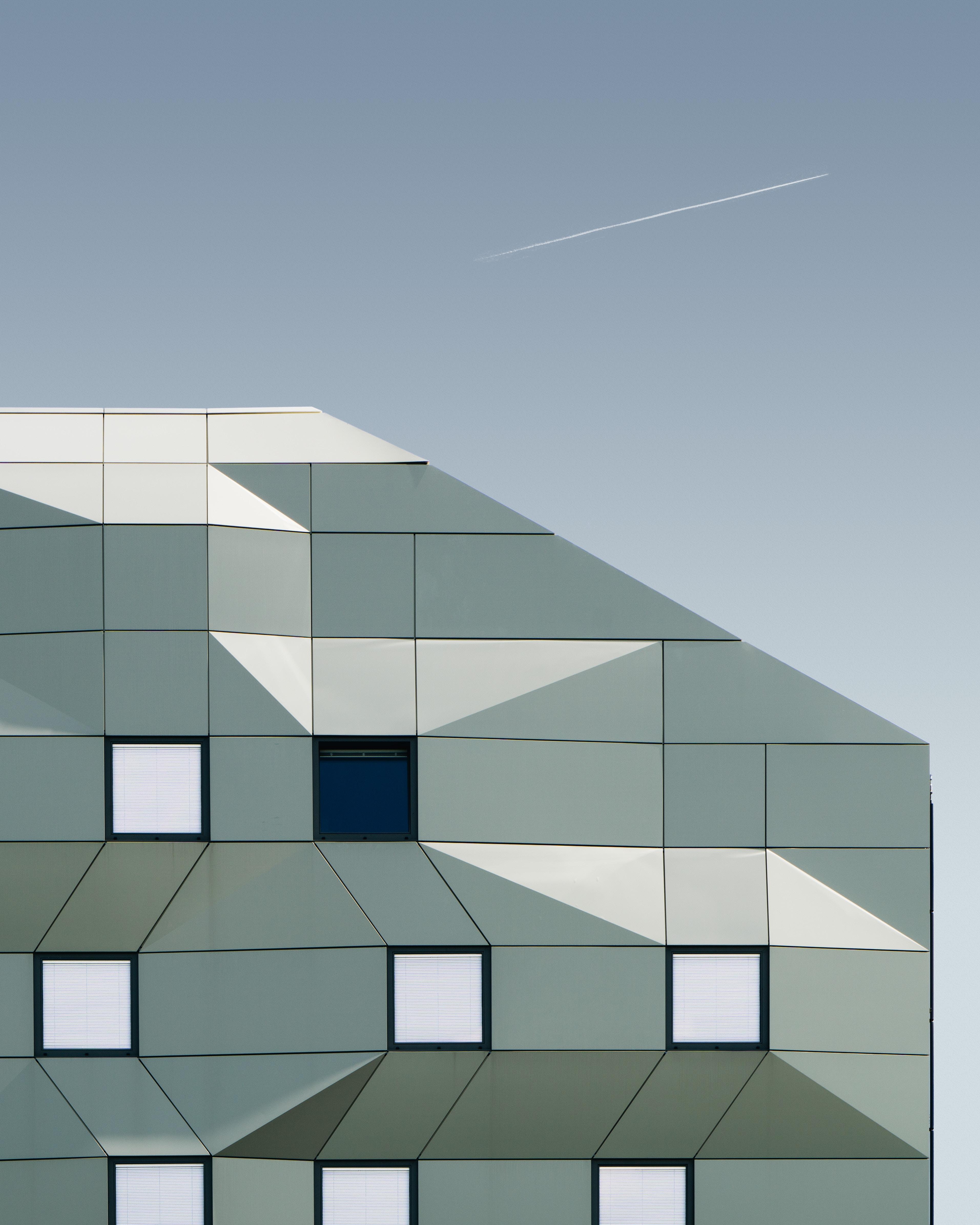 gray building illustration